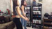 Chicas jugando Just Dance 2014 en el Bunker