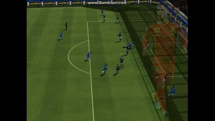 Красив гол на Давид Луис #fifa 14#