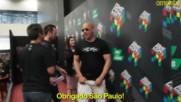 Nina Dobrev, Vin Diesel and Michael Bisping at the Comic Con 2016 in Brazil