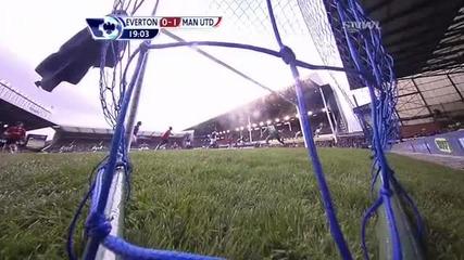 Манчестър Юнайтед 1 - 0 Евертън Чичарито Гол *hq*