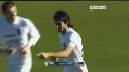 Cagliari Vs Palermo 2 - 1 Javier Matias Pastore Goal 16 01