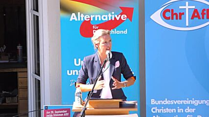 Germany: AfD candidate blasts govt COVID-19 policies in campaign rally