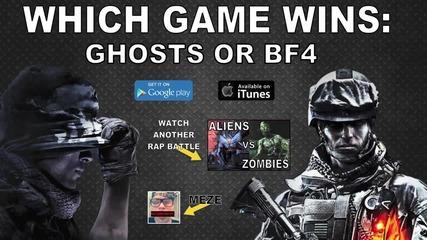 Rap Battle - Cod Ghosts Vs Battlefield 4 _ Brysi Feat. Meze