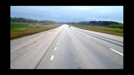 Bmw E36 Turbo M3 with 960hk pulls it off !!