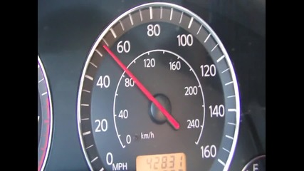 Infiniti fx 35 0 - 140 km/h