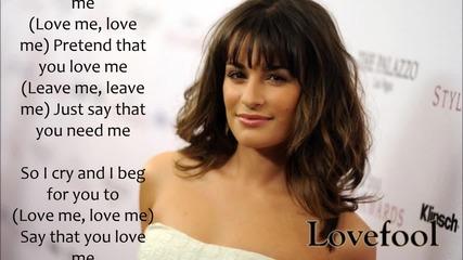 Lea Michele - Lovefool
