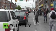 USA: Street celebrations in Baltimore after six officers charged in Freddie Gray case