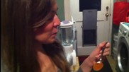 Cute Girl Fails Cinnamon Challenge!