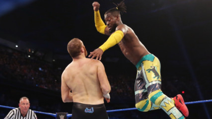 Kofi Kingston & Seth Rollins vs. Kevin Owens & Sami Zayn – 2-out-of-3 Falls Match: SmackDown LIVE, June 18, 2019