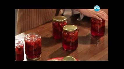 Студена супа от тиквички, ягодов компот, пилешки бутчета с ориз - Бон Апети (20.06.2013)