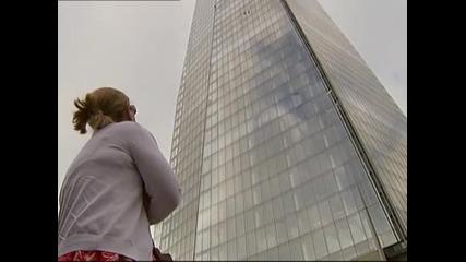 """Активистки от """"Грийнпийс"""" изкачиха най-високата сгрда в Западна Европа"""