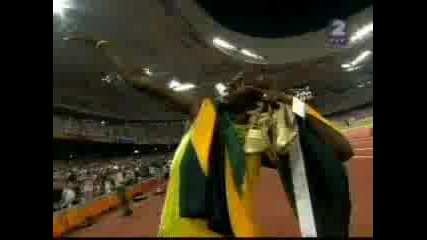 Световен Рекорд С Участието На Юсейн Болт - 4x100 - 37.10!!!