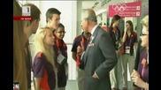Принц Чарлз в олимпийския парк