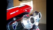 Ducati 1098r Termignoni Exhaust Carbon Pipes sound