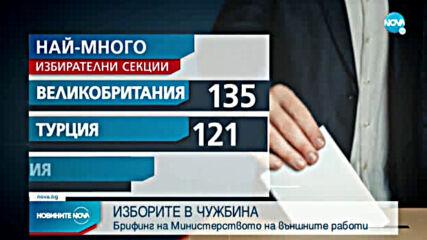 МВнР с актуална информация за вота в чужбина