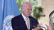 Switzerland: De Mistura criticises Syrian gov. for blocking aid trucks in eastern Aleppo