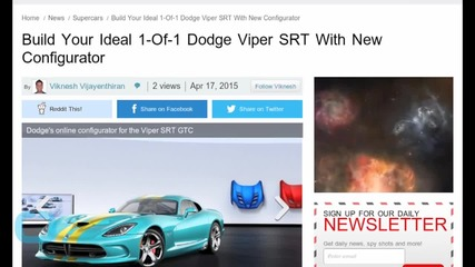 Build Your Ideal 1-Of-1 Dodge Viper SRT With New Configurator