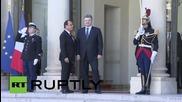 France: Poroshenko arrives for Normandy Format talks on Ukraine crisis