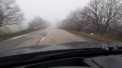 Дупки на първокласен път Варна-Добрич