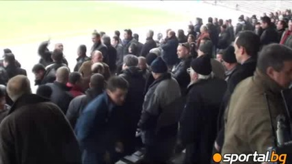 Радостта след победата над Левски в 1/4 финал за купата