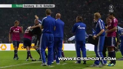 Duisburg 0-5 Schalke 04 ( Huntelaar )