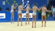 Световно първенство по художествена гимнастика 2017 Пезаро Български ансамбъл (изпълнение на обръчи)