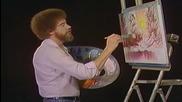S02 Радостта на живописта с Bob Ross E02 - зимно слънце ღобучение в рисуване, живописღ