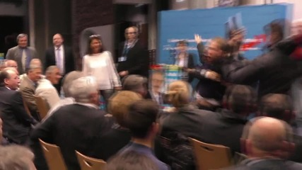 Germany: AfD's Petry rally interrupted by protester in Neuwied