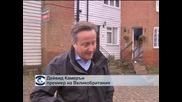 Англия, Ирландия и Уелс се борят с последиците от бурните ветрове и порои