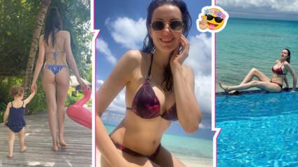 Марина Войкова радва със снимки от нейното семейно приключение на Малдивите