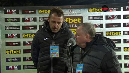 Александър Тарханов: Трудно се гради отбор с толкова липсващи, червеният беше заслужен