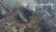 Дрон засне трагедията в Хитрино от взрив на цистерни - видео