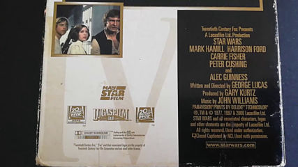 Българското Vhs издание на Междузвездни войни: Нова надежда (1977) Мейстар филм 2000
