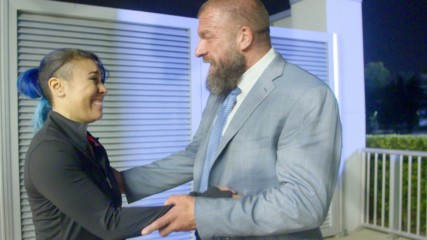 Triple H tells Mia Yim that she's earned an NXT contract: WWE.com Exclusive, Oct. 17, 2018