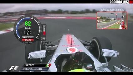 F1 Гран при на Испания 2013 - Perez на Fp2 [hd][onboard]