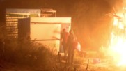 France: Massive fire breaks out in Calais 'Jungle' camp as demolition continues