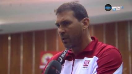 Петър Дочев: Не съм доволен, трябва да се научим да падаме