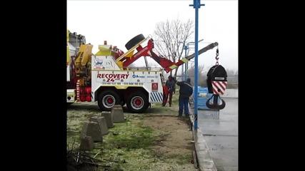 Натоварване на 5 т кука на 500 тонен кран на камион на Фелбермайр