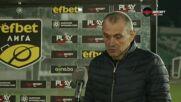 Загорчич: Ядосах се, ще се карам на играчите