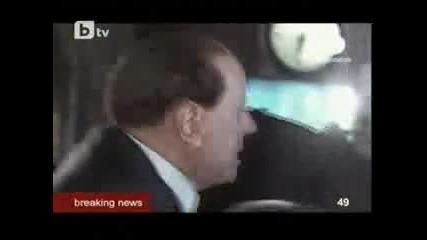 Mъж удари с юмрук премиера на Италия Силвио Берлускони Видео