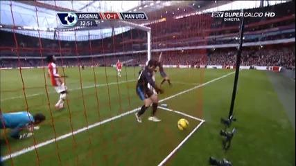31.01 Арсенал 1:3 Манчестър Юнайтед - гол на Нани