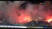 Огнена феерия в сектор Б по време на юбилейния мач 100 години Левски