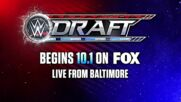 The WWE Draft two-night event begins Oct. 1 on SmackDown