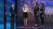 Зашеметяващото изпълнение на Десислава, Миропка, Маринела и Николета - (27.03.2014) България търси т