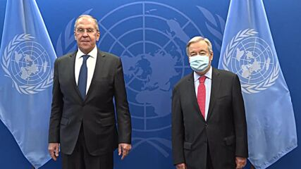UN: Guterres, Russian FM Lavrov meet on sidelines of General Assembly