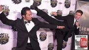 Звездите Ален Муси и Сам Медина на премиерата на филма си Кикбоксьор: Отмъщение (2016)