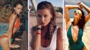 Диляна Попова на море и през септември, показа безкрайни крака от плажа