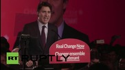 Canada: Victorious Trudeau addresses supporters after election win