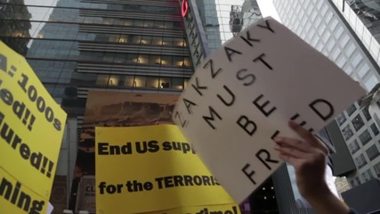 USA: Anti-Saudi protesters rally at Times Square to decry execution of Sheikh al-Nimr