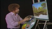 S03 Радостта на живописта с Bob Ross E03 - бълбукащ поток ღобучение в рисуване, живописღ